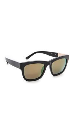 3.1 Phillip Lim Square Mirrored Sunglasses - Black/Multichrome Yellow