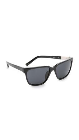 3.1 Phillip Lim Square Sunglasses - Black/Black