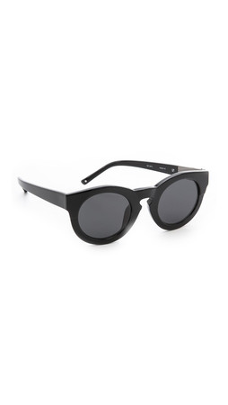 3.1 Phillip Lim Thick Frame Sunglasses - Black/Black