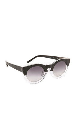 3.1 Phillip Lim Thick Frame Sunglasses - Black/Clear