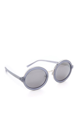 3.1 Phillip Lim Thick Rim Round Sunglasses - Frosted Mauve/Pewter