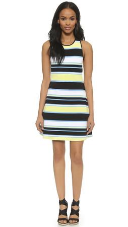 A.L.C. Dorit Dress - Canary/Denim Multi