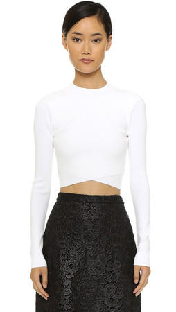 A.L.C. Ford Crop Top - White