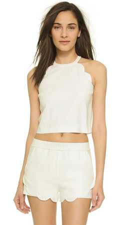 A.L.C. Sanger Crop Top - White