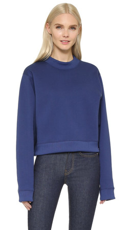 Acne Studios Bird Fleece Pullover - Indigo