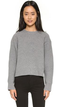 Acne Studios Java L Ribbed Sweater - Grey Melange