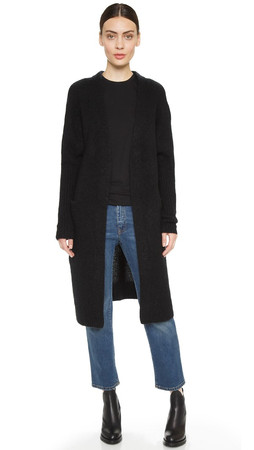 Acne Studios Raya Brushed Cardigan - Black