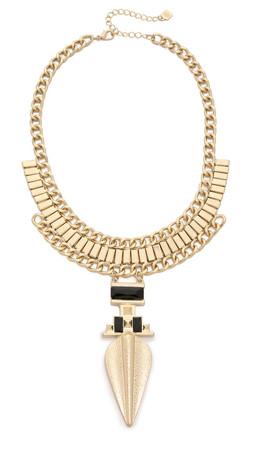 Adia Kibur Abby Necklace - Gold/Black