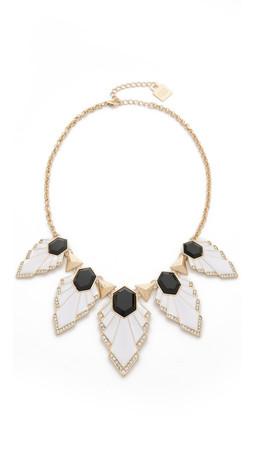 Adia Kibur Aly Necklace - White/Black/Gold