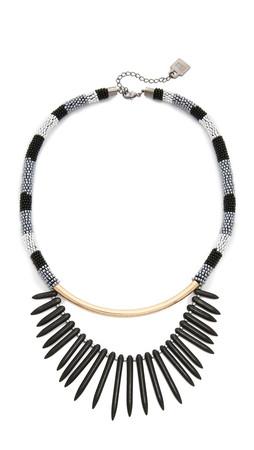 Adia Kibur Avery Necklace - Black/Gold
