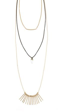 Adia Kibur Erin Necklace - Gold/Black