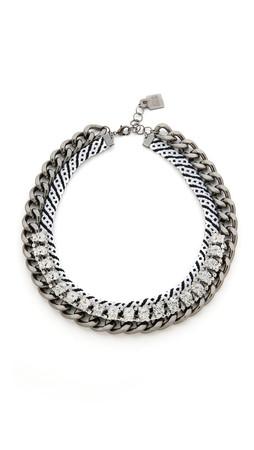 Adia Kibur Lana Necklace - Clear/Silver