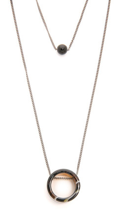 Adia Kibur Laura Necklace - Hematite