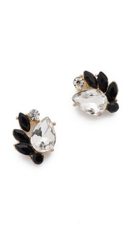Adia Kibur Simone Earrings - Clear/Black