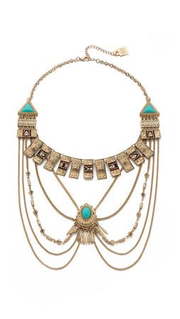 Adia Kibur Victoria Necklace - Gold/Turquoise