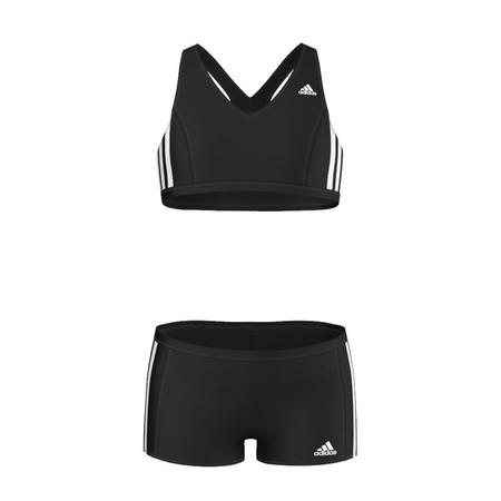 Adidas Girls Infinitex 3 Stripe 2 Piece Swimsuit  - 9 to 10