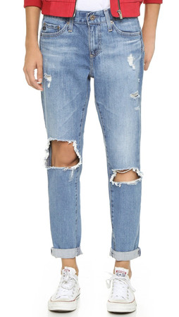 Ag The Beau Boyfriend Jeans - Windsong Ripped