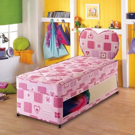 Airsprung Kids Beta Pink Divan and Mattress - single