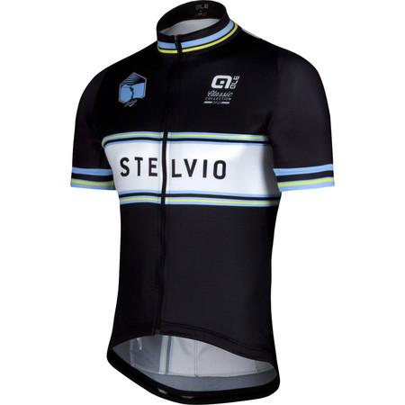 Alé Classic Stelvio Short Sleeve Jersey - Medium Black/Blue/Fluro