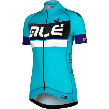 Alé Women's PRR Barbados Short Sleeve Jersey - Medium Aqua/Violet