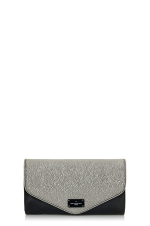 Alana Clutch Bag - Soft Grey