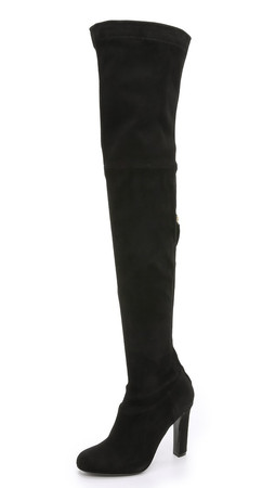 Alberta Ferretti Collection Suede Boots - Black