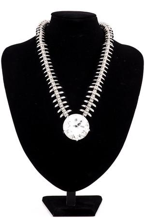 Alexa Silver Diamante Statement Necklace