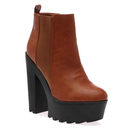 Alexa Tan Brown Ankle Boots
