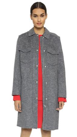 Alexander Wang 2 In 1 Car Coat / Vest - Melange