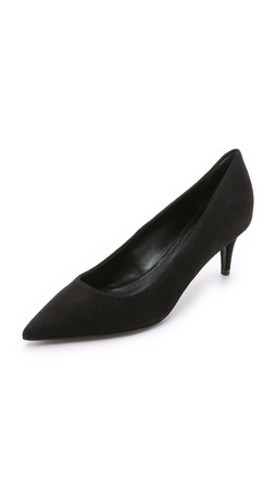 Alexander Wang Ana Suede Pumps - Black