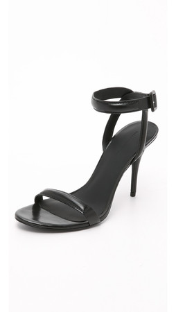 Alexander Wang Antonia Ankle Strap Sandals - Black