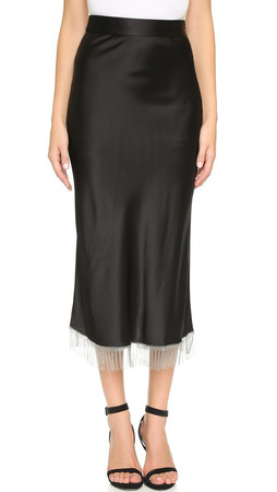 Alexander Wang Chainmail Fringe Skirt - Nocturnal