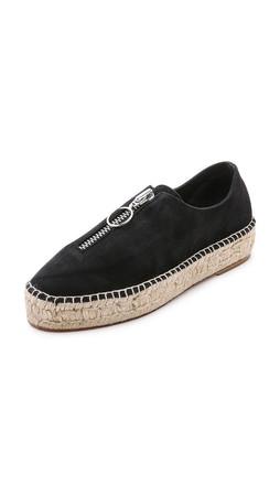 Alexander Wang Devon Espadrille Sneakers - Black