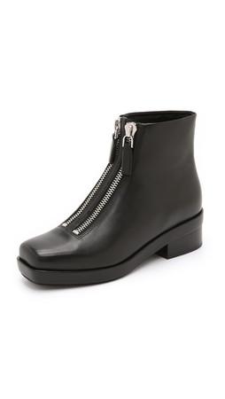 Alexander Wang Federica Double Zip Booties - Black