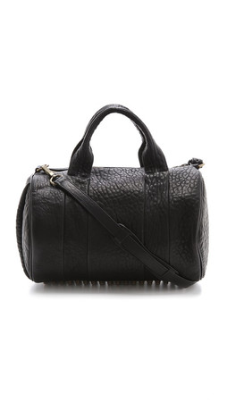 Alexander Wang Rocco Duffel With Gold Tone Hardware - Black