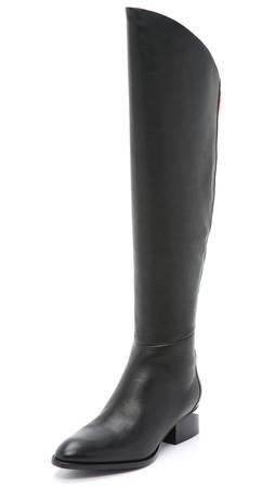 Alexander Wang Sigrid Tall Boots - Black/Rose Gold