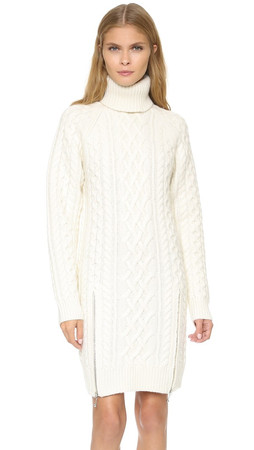 Alexander Wang Turtleneck Dress With Zips - Aspen