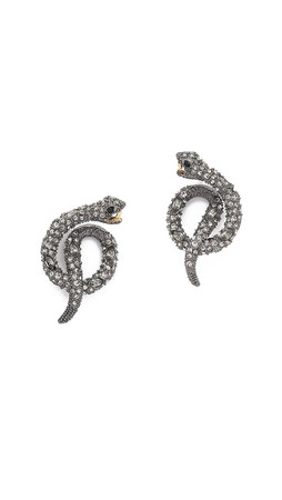Alexis Bittar Coiled Serpent Earrings - Ruthenium
