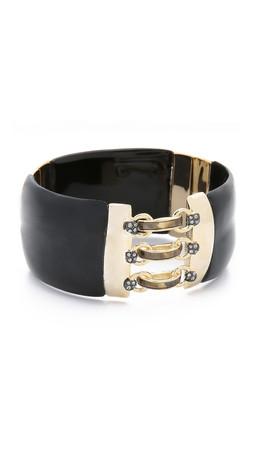 Alexis Bittar Corset Hinge Bracelet - Black