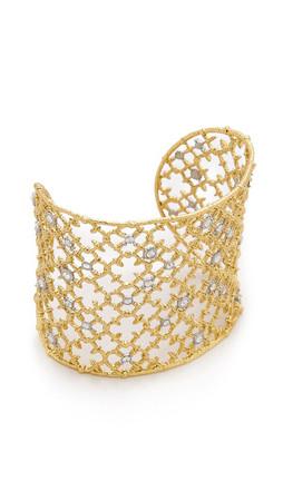 Alexis Bittar Crystal Cuff Bracelet - Gold