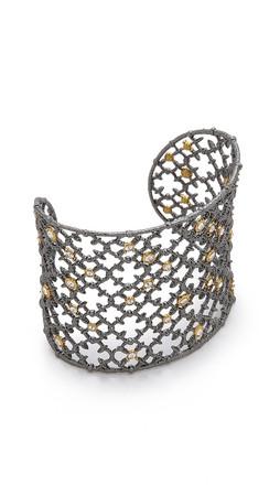 Alexis Bittar Crystal Cuff Bracelet - Ruthenium