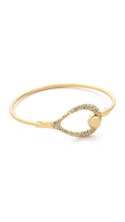 Alexis Bittar Crystal Encrusted Bangle Bracelet - Gold Multi