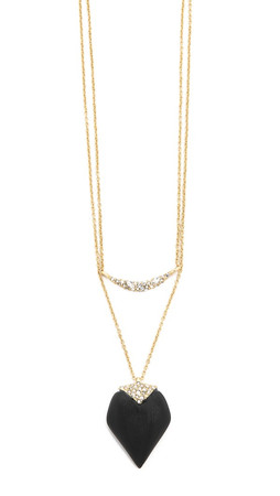 Alexis Bittar Encrusted Multi Layer Pendant Necklace - Black