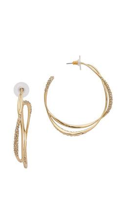 Alexis Bittar Encrusted Orbiting Hoop Earrings - Gold