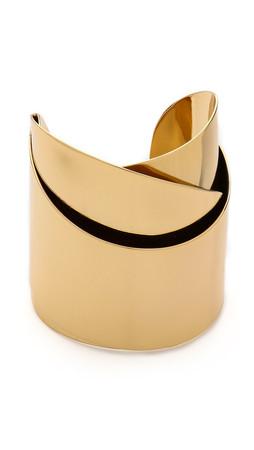 Alexis Bittar Geometric Ribbon Cuff Bracelet - Gold