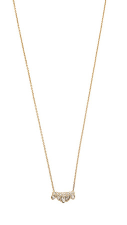 Alexis Bittar Jagged Marquis Charm Necklace - Gold Multi