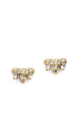 Alexis Bittar Jagged Marquis Cluster Earrings - Gold Multi