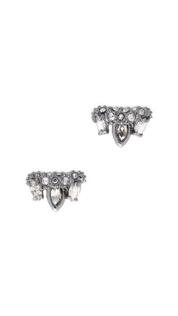Alexis Bittar Jagged Marquis Cluster Earrings - Ruthenium