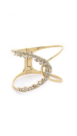 Alexis Bittar Jagged Marquis Hinge Bracelet - Gold Multi