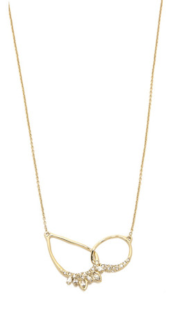 Alexis Bittar Jagged Marquis Pendant Necklace - Gold Multi